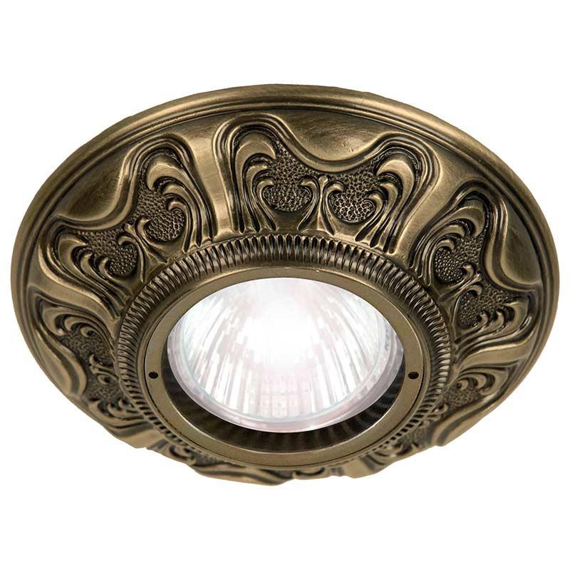 Fede FD1006RPB Круглый точечный светильник из латуни, патина светильник точечный круглый коллекция pisa lights fd1010rcb светлый хром латунь fede феде