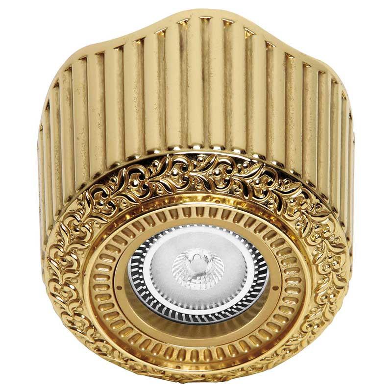 Fede FD1017SOB Накладной точечный светильник из латуни San Sebastian Surface, блестящее золото светильник точечный накладной коллекция vitoria surfase fd1012sob латунь блестящее золото fede феде