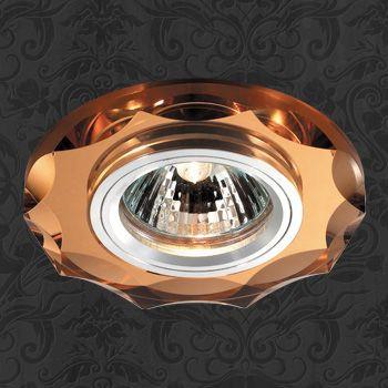 Фото Novotech 369763 NT12 237 алюминий/янтарный Встраиваемый светильник IP20 GU5.3 50W 12V MIRROR. Купить с доставкой
