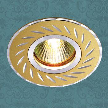 Novotech 369772 NT12 267 золото Встраиваемый светильник IP20 GU5.3 50W 12V VOODOO встраиваемый светильник novotech voodoo 369772