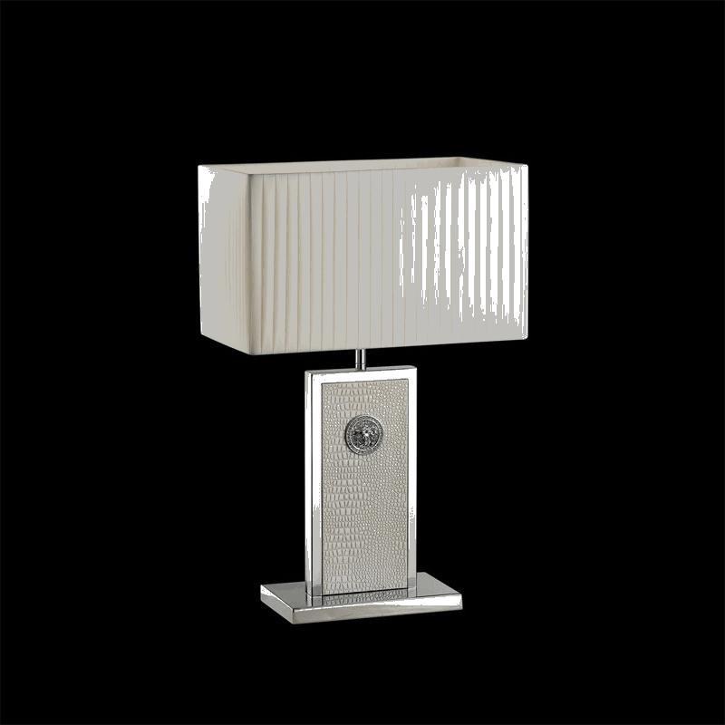 Lightstar 870936 (PD3088-WH) Настольная лампа FARAONE 1х60W E27 КОЖА/БЕЛЫЙ/ХРОМ, шт паяльник bao workers in taiwan pd 372 25mm