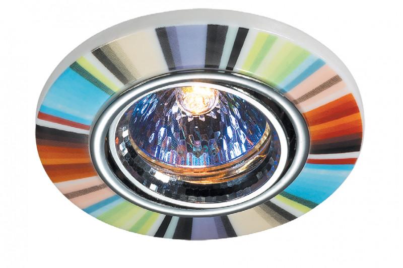 Novotech 369552 NT11 222 хром/цветной Встраиваемый НП светильник IP20 GU5.3 50W 12V CERAMIC novotech 369521 nt11 406 алюминий белый голубой встраиваемый нп светильник ip20 gu5 3 50w 12v gzhel