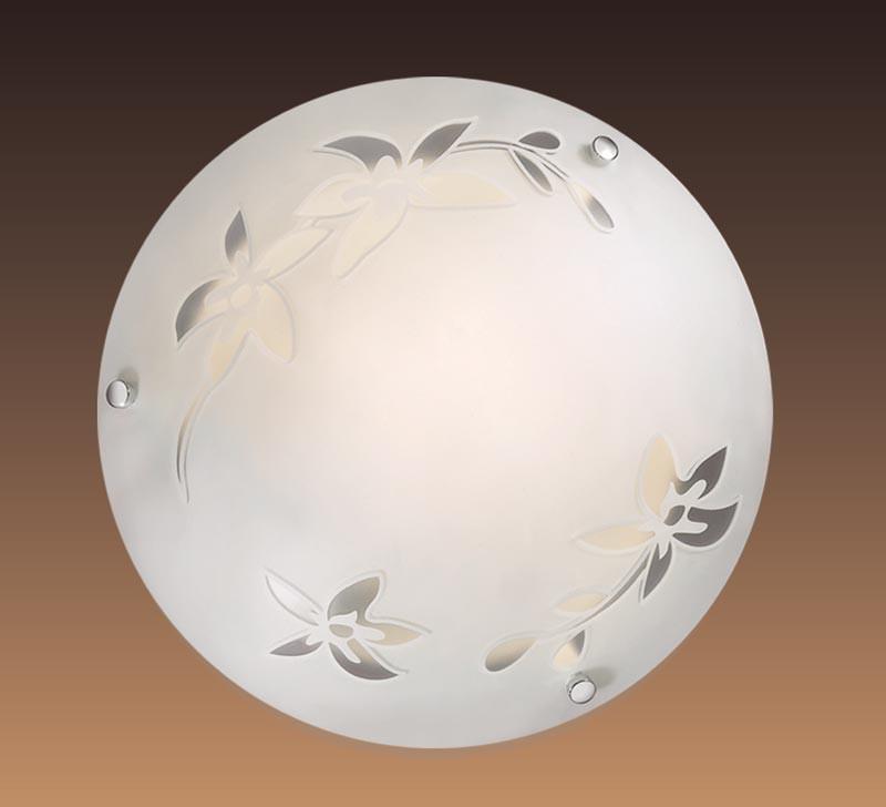 Фото Sonex 1214 FBD11 053 белый/хром Н/п светильник E27 60W 220V ROMANA. Купить с доставкой