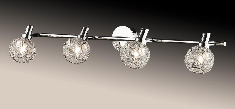Odeon Light 2209/4W ODL12 768 хром/хрустальный декор Подсветка  G9 4*40W 220V BISCO