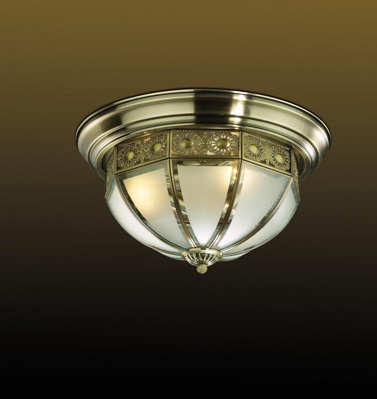 Odeon Light 2344/3C ODL12 356 бронза Потолочный светильник  E14 3*40W 220V VALSO odeon light потолочный светильник odeon light valso 2344 3c