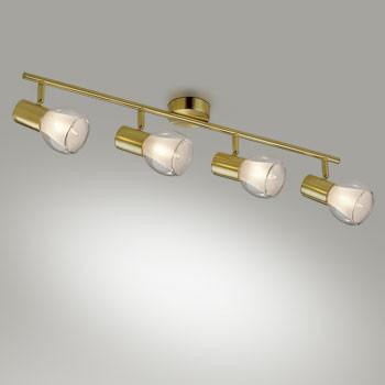 Odeon Light 2176/4W ODL11 784 матовое золото Подсветка  E14 4*40W 220V MOSS настенно потолочный светильник спот коллекция moss 2176 2w золото прозрачный odeon light одеон лайт