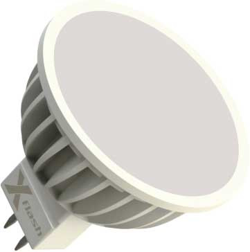 X-Flash Светодиодная лампа XF-MR16-A-GU5.3-5W-3000K-12V X-flash лампочка x flash spotlight mr16 xf spl l gu5 3 6w 3000k 12v желтый свет линза 43507