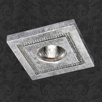 Novotech 369732 NT12 221 серебро Встраиваемый светильник IP20 GU5.3 50W 12V FABLE встраиваемый светильник novotech 369732