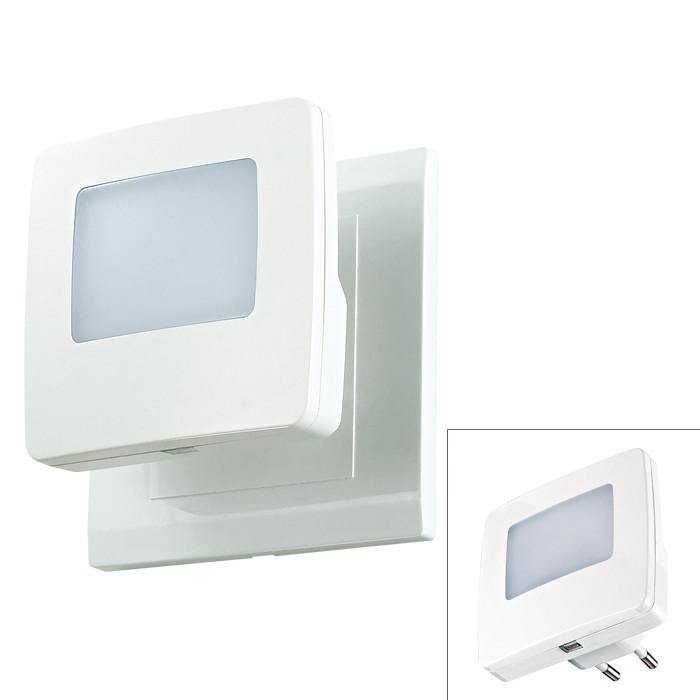 Novotech 357329 NT16 105 белый Светильник-ночник (в розетку) с датчиком света IP20 1LEDx0.5W 220V NIGHT LIGHT yeelight ночник светодиодный заряжаемый с датчиком движения