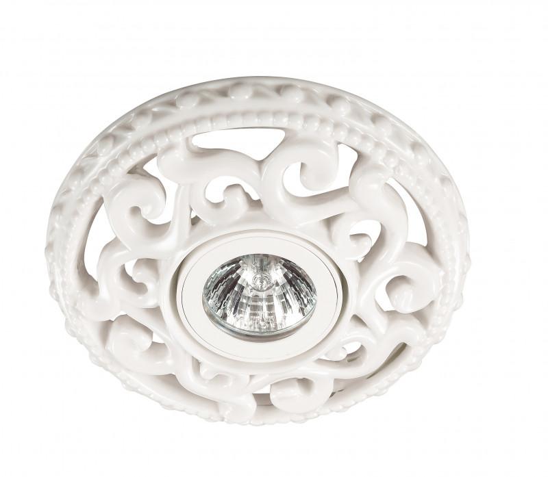 Фото Novotech 370196 NT16 166 белый Встраиваемый декоративный светильник IP20 GU5.3 50W 12V OLA. Купить с доставкой