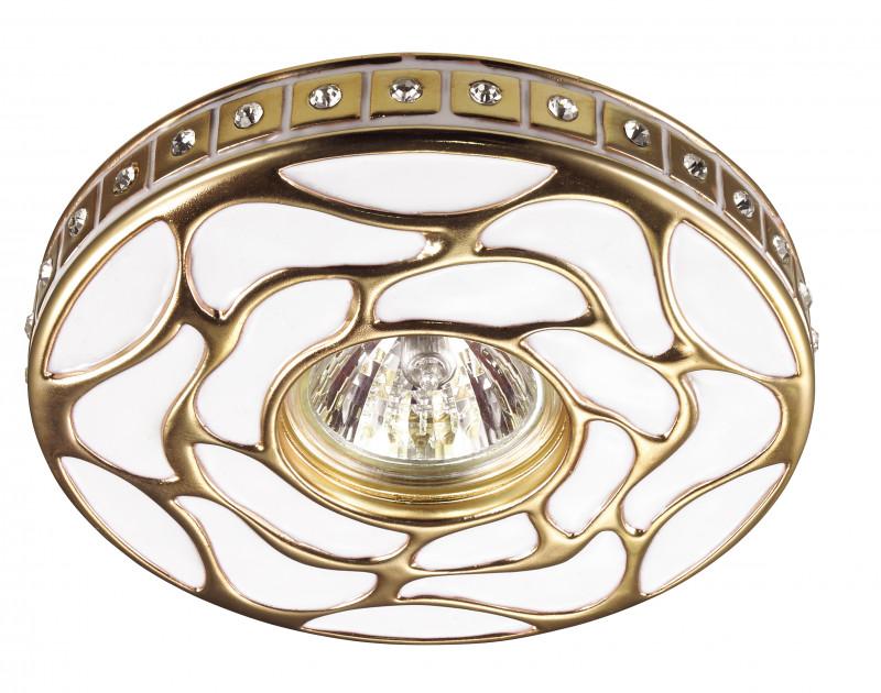 Novotech 370213 NT16 142 белый/золото Встраиваемый декоративный светильник IP20 GU5.3 50W 12V PATTERN все цены