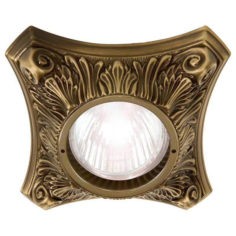Fede FD1010RPB Круглый точечный светильник из латуни, патина светильник точечный круглый коллекция pisa lights fd1010rcb светлый хром латунь fede феде