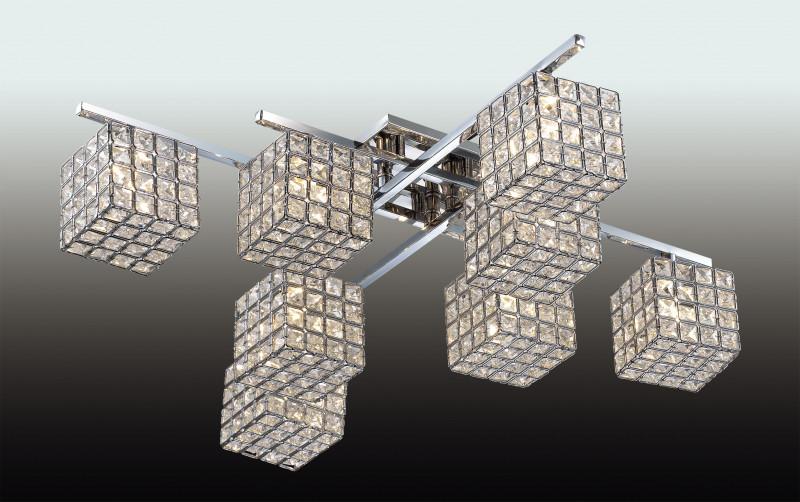 Odeon Light 2709/8C ODL15 365 хром/хрусталь Люстра потолочная G9 8*40W 220V ULFA odeon light потолочная люстра odeon light ulfa 2709 8c
