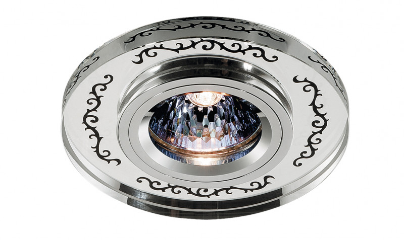 Novotech 369542 NT11 235 хром/зеркальный Встраиваемый НП светильник IP20 GU5.3 50W 12V MIRROR novotech 369521 nt11 406 алюминий белый голубой встраиваемый нп светильник ip20 gu5 3 50w 12v gzhel