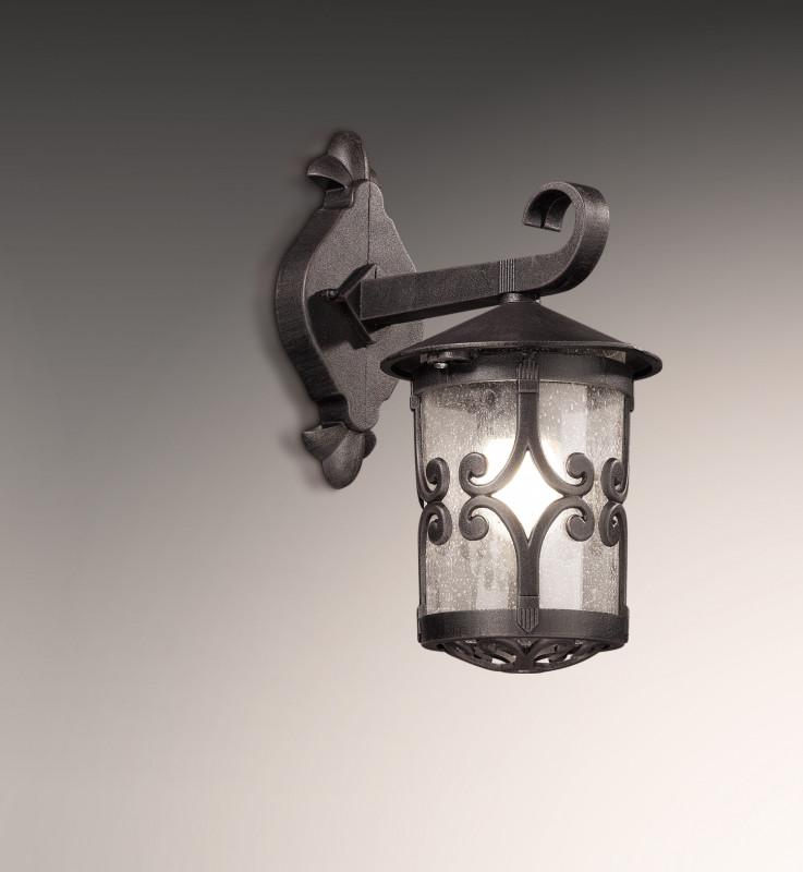 все цены на Odeon Light 2311/1W ODL12 933 коричневый Уличный настен светильник IP44 E27 60W 220V BUKLE