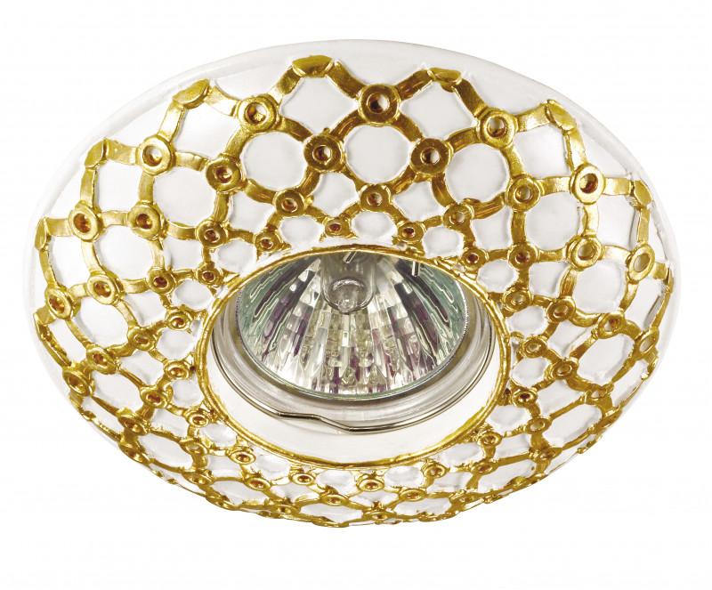 Novotech 370115 NT15 145 белый/золото Встраиваемый светильник IP20 GU5.3 50W 12V PATTERN