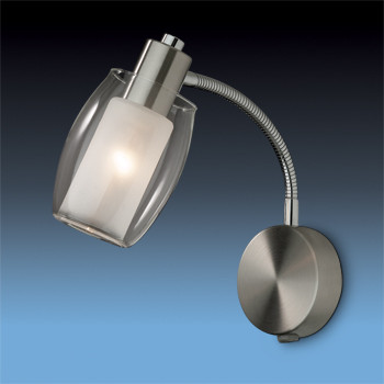Odeon Light 2069/1A ODL11 787 матовый никель Подсветка с выкл E14 40W 220V SINCO