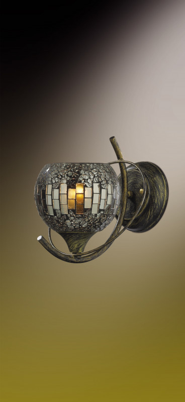 Odeon Light 2106/1W ODL11 713 мозаика/антрацитовый Бра E14 60W 220V MOSAIC генератор на ваз 2106 бу в балашихе