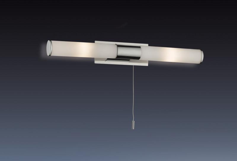 Odeon Light 2139/2W ODL11 861 хром Бра с выкл IP44 G9 2*40W 220V VELL odeon light 2217 3w odl12 815 хром хрусталь подсветка с выкл g9 3 40w 220v loden