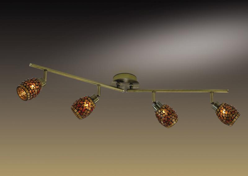 Odeon Light 2167/4W ODL11 772 мозаика/янтарный Подсветка  G9 4*40W 220V GLOSSE