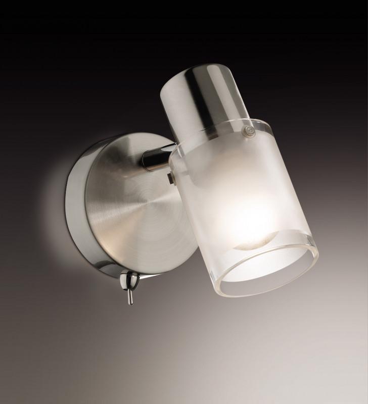 Odeon Light 2175/1W ODL11 789 матовый никель Подсветка с выкл  E14 40W 220V PARFE тумба меркана толедо под ум ник infinity 65см с 3 мя ящиками венге 27349