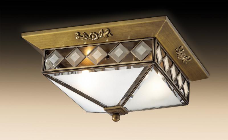 Odeon Light 2544/2 ODL13 351 бронза Потолочный светильник  E14 2*40W 220V MOME стул петроторг 2544 черный