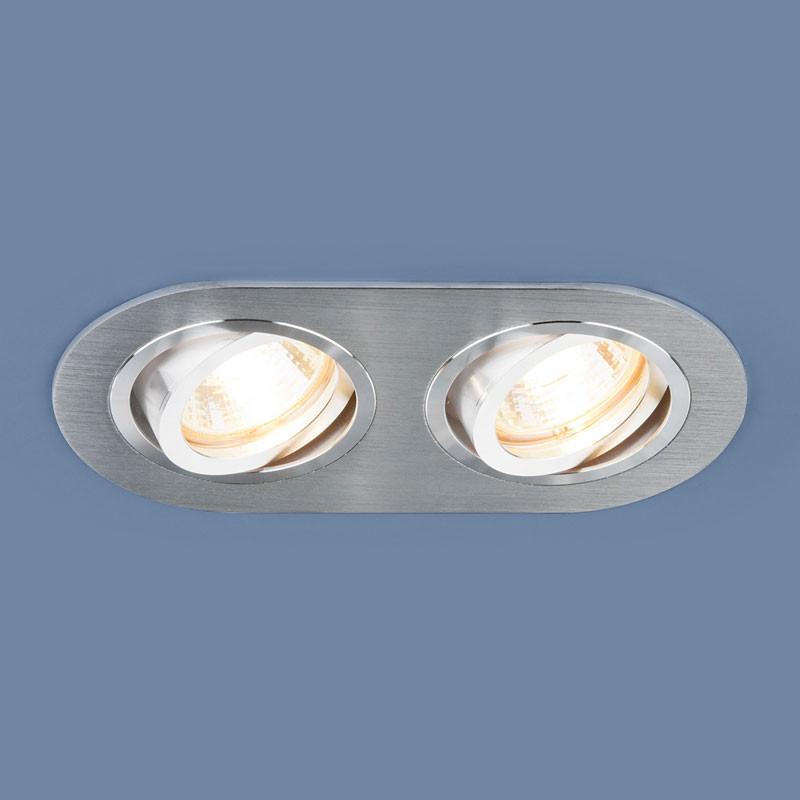 Elektrostandard Алюминиевый точечный светильник 1061/2 MR16 SL серебро точечный светильник philips led 2 5 3 5w3