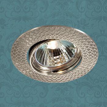 Novotech 369626 NT12 280 никель Встраиваемый ПВ светильник IP20 GU5.3 50W 12V DINO