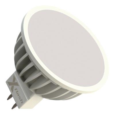 X-Flash Светодиодная лампа XF-MR16-A-GU5.3-4W-4000K-12V X-flash лампочка x flash spotlight mr16 xf spl l gu5 3 6w 3000k 12v желтый свет линза 43507