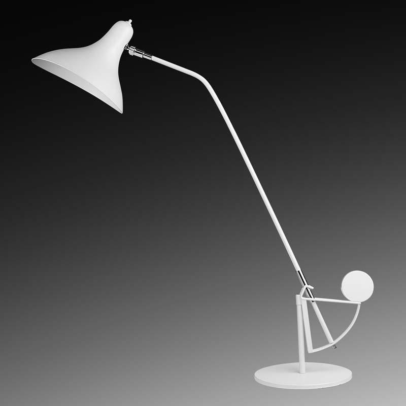 Lightstar 764906 (MТ14003041-1А) Настольная лампа MANTI 1х40W E14 White, шт lightstar 764604 mв14003041 1а бра manti 1х40w e14 chrome шт