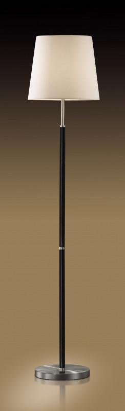 Odeon Light 2266/1F ODL12 413 никель/абажур &рогожка& Торшер  E27 60W 220V GLEN