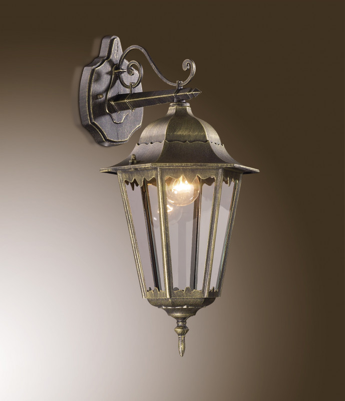 все цены на Odeon Light 2320/1W ODL12 937 бронза Уличный настен светильник IP44 E27 60W 220V LANO