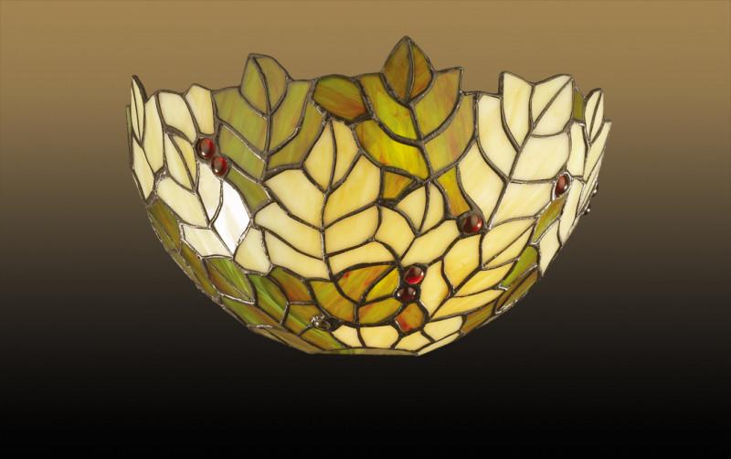 """Odeon Light 2269/1W ODL12 701 коричневый/""""тиффани"""" Бра E27 60W 220V RIZA linvel v 701"""
