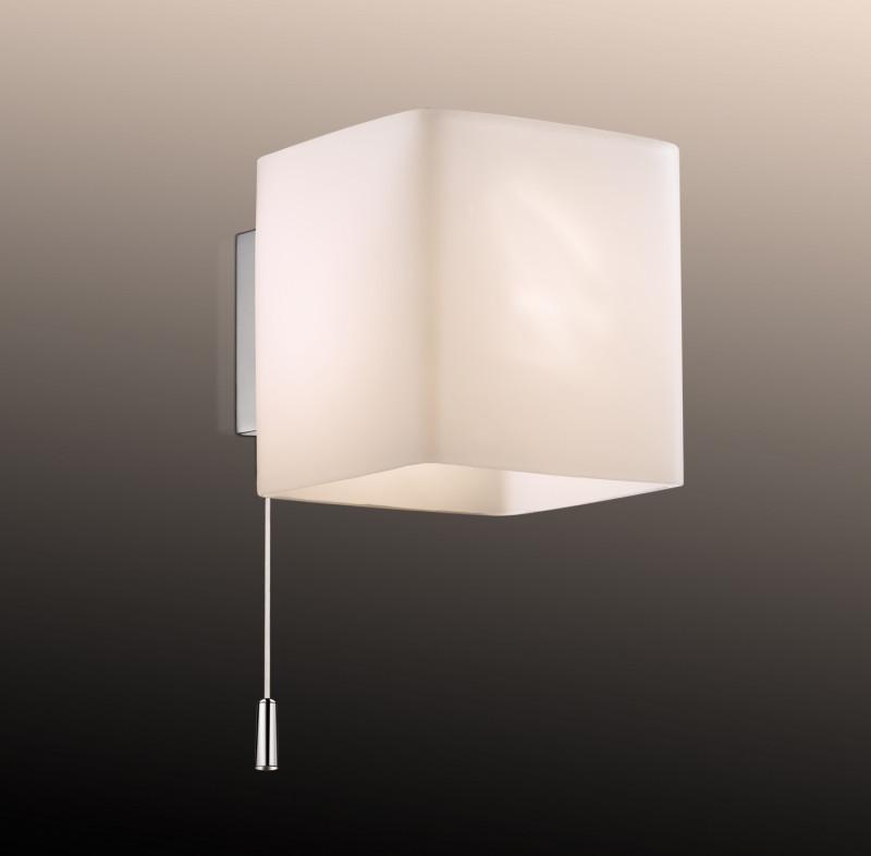 Odeon Light 2183/1W ODL12 816 хром Настенный светильник с выкл G9 40W 220V FARO светильник настенный odeon light 2209 3w odl12 719 g9 3 40w 220v bisco хром хрустальный декор