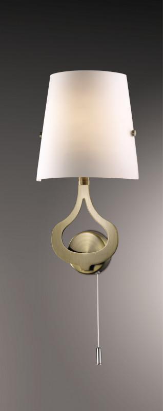 Odeon Light 2186/1W ODL12 813 бронза Настенный светильник с выкл  E14 40W 220V TIARA светильник настенный odeon light 2743 2w odl15 787 e14 2 40w 220v lemo хром стекло
