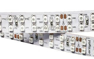 Arlight Лента RT 2-5000 24V Yellow 2X2(3528,1200 LED, LUX) лента arlight 021412