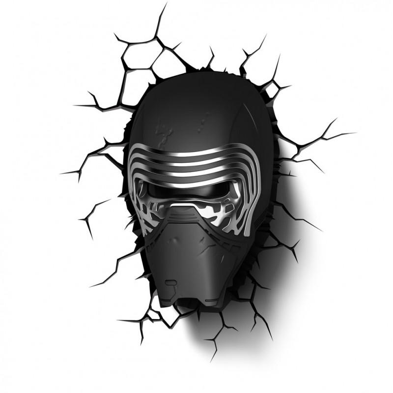 3DLIGHT Светильник ночник детский StarWars (Звёздные Войны)-Kylo Ren (Кайло Рен) игровой аксессуар с детскую 3d ночник starwars звёздные войны йода
