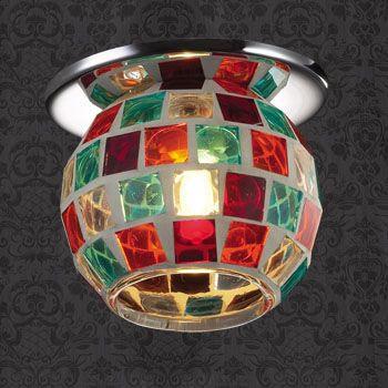 Фото Novotech 369465 NT09 396 хром/цветной Встраиваемый светильник G9 40W 220V VITRAGE. Купить с доставкой