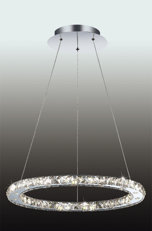 Odeon Light 2710/24L ODL15 527 хром/хрусталь Люстра-подвес LED 24W 220V MAIRI odeon light потолочный светильник odeon light mairi 2710 44l