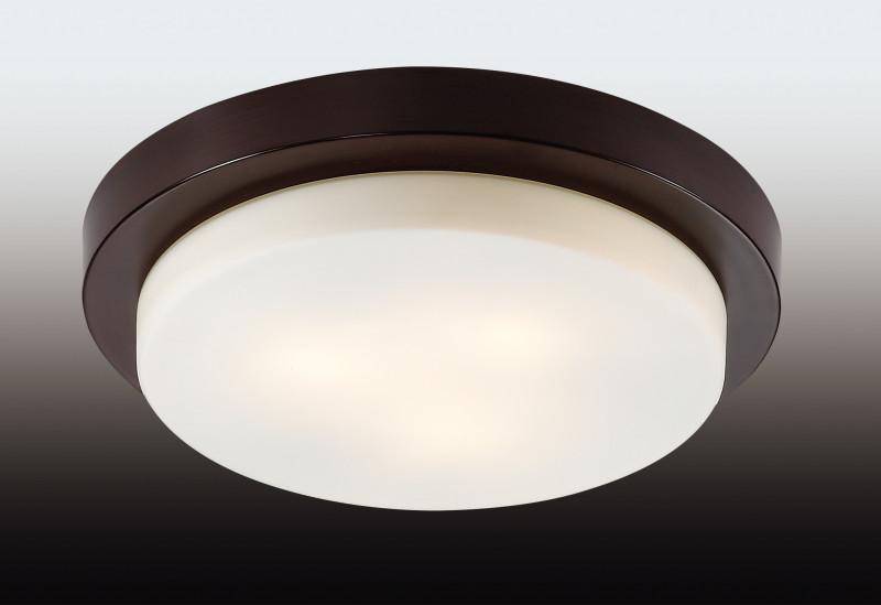 Odeon Light 2744/3C ODL15 866 венге/стекло Н/п светильник IP44 E14 3*40W 220V HOLGER светильник потолочный odeon light holger 3 х e14 40w 2745 3c
