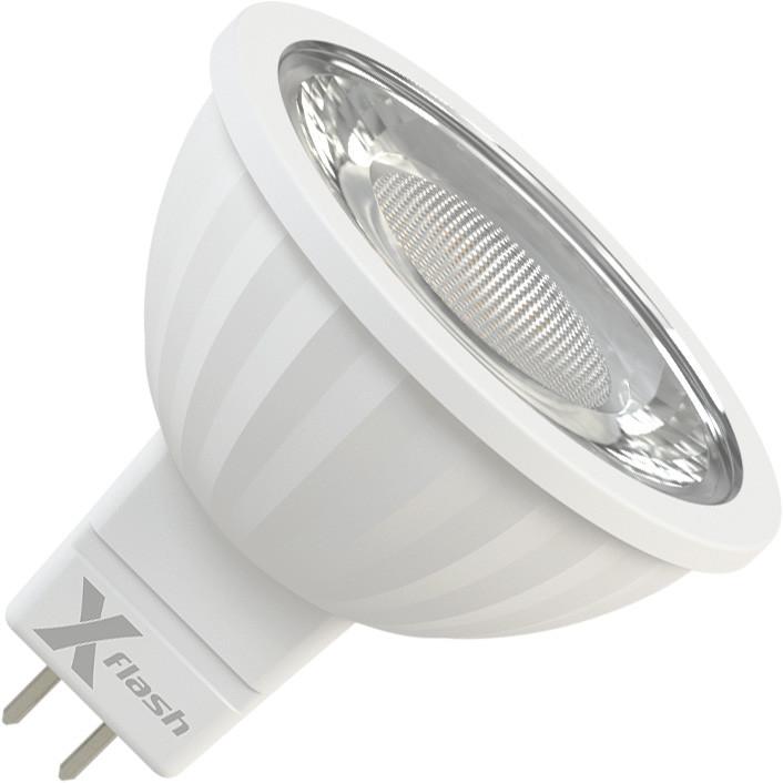 X-Flash Светодиодная лампа X-flash XF-MR16-P-GU5.3-8W-3000K-220V (арт.47277) лампочка x flash spotlight mr16 xf spl l gu5 3 6w 3000k 12v желтый свет линза 43507