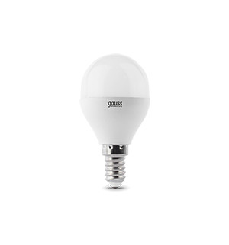 Gauss Лампа Gauss LED Elementary Globe 6W E14 2700K 1/10/50 gauss elementary globe e27 6w 230v холодный свет