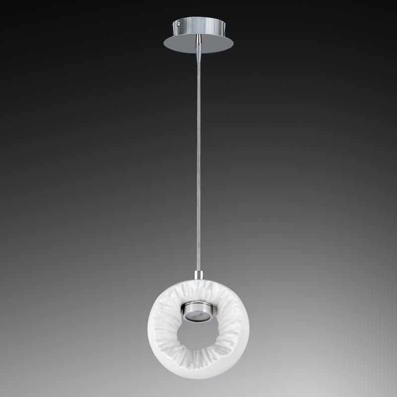 Lightstar 104616*** Светильник BELLE ARTI PICCOLO LED 3W 240LM ХРОМ/БЕЛЫЙ подвесной 4200К, шт