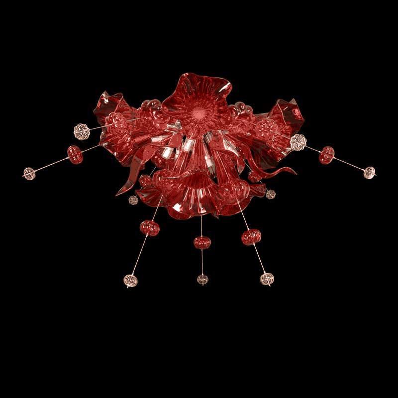 Lightstar 893022*** (MХ8135-12) Люстра CELESTA LED 12х6W(Led) G9  RED lightstar люстра lightstar torcia 10х40w g9 белый ls 780100