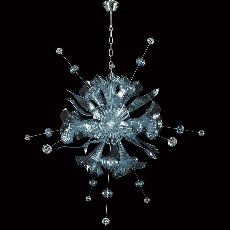 Lightstar 893121*** (MD8135-12) Люстра CELESTA LED 12х6W(Led) G9 SKY BLUE lightstar подвесная люстра lightstar trofeo led895267