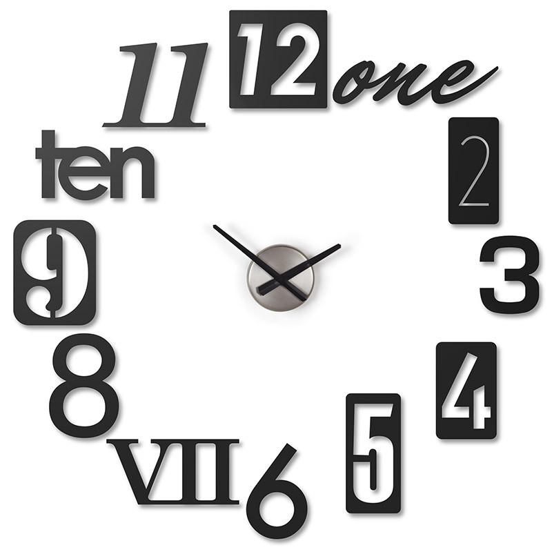 Umbra Часы настенные numbra черные крючки настенные umbra filp hook