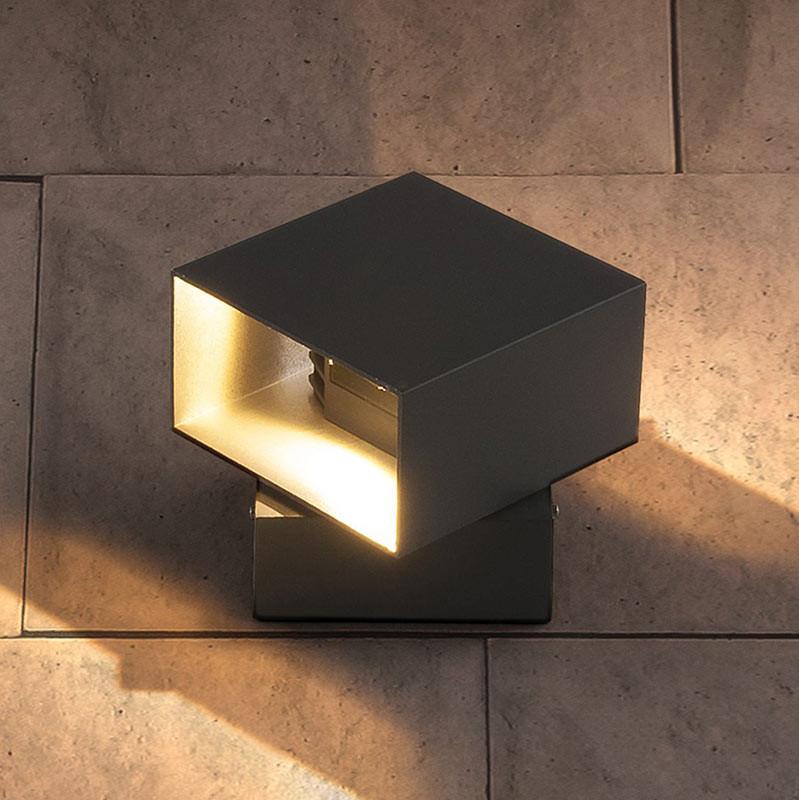 Elektrostandard 1607 Techno LED Fobos графит elektrostandard лампа светодиодная elektrostandard свеча на ветру сdw led d 6w 3300k e14 4690389085505