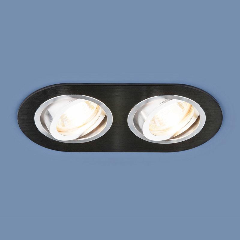 Elektrostandard Алюминиевый точечный светильник 1061/2 MR16 BK черный точечный светильник philips led 2 5 3 5w3