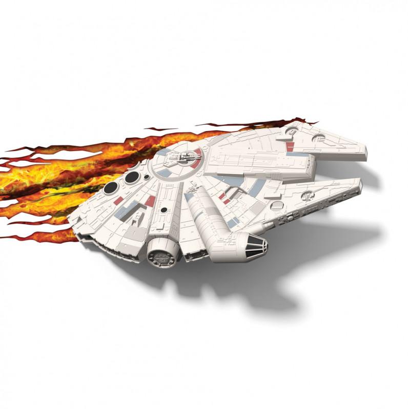 3DLIGHT Светильник ночник детский StarWars (Звёздные Войны)-Millennium Falcon (Тысячелетний сокол) игровой аксессуар с детскую 3d ночник starwars звёздные войны йода