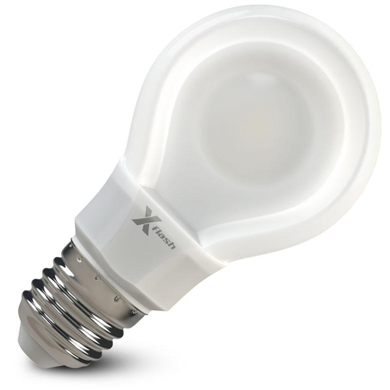 X-Flash Светодиодная лампа XF-E27-FLT-A60-P-8W-3000K-220V X-flash лампа светодиодная x flash xf e27 r90 p 12w 3000k 220v 10шт